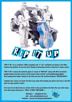RIP IT UP, Rock n Roll Band, Langport